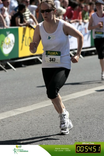 Maureen Byrne running the Dublin Women's Mini Marathon 2009
